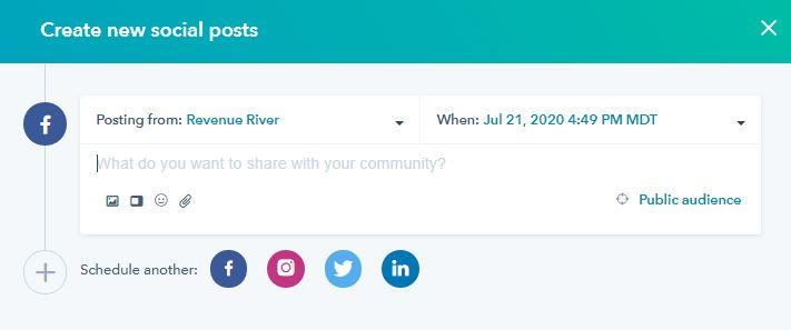 HubSpot Social Scheduling