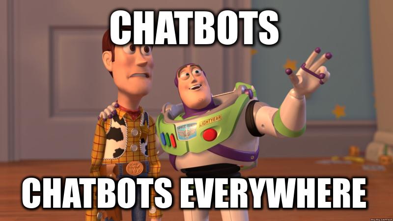 chatbots, chatbobts everywhere meme