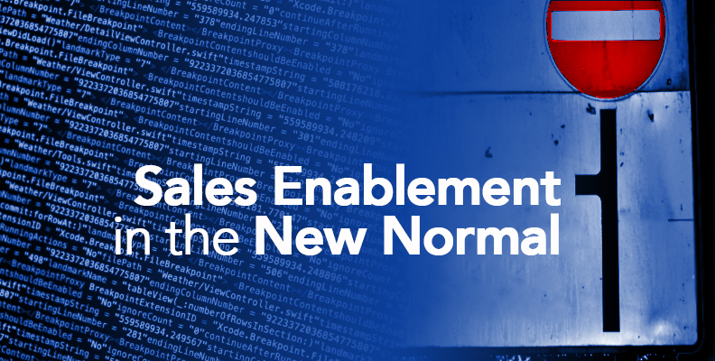 sales enablement in the new normal