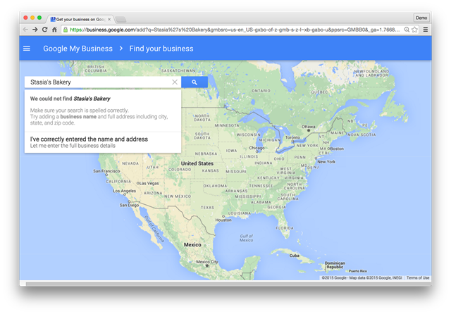 Local search map